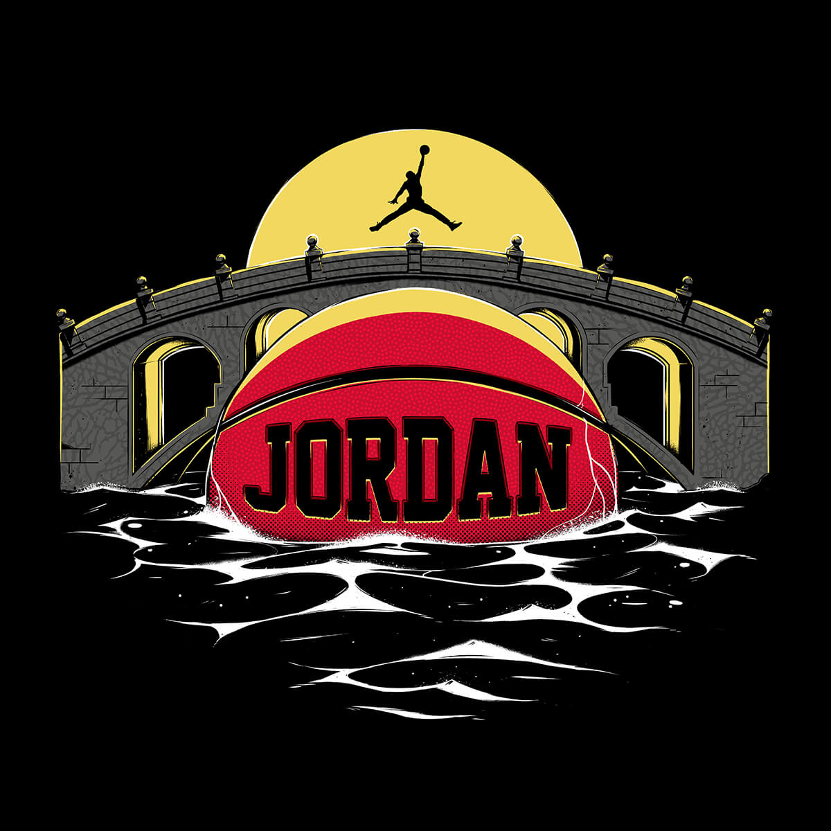 Jordan By You basketball illustration bridge