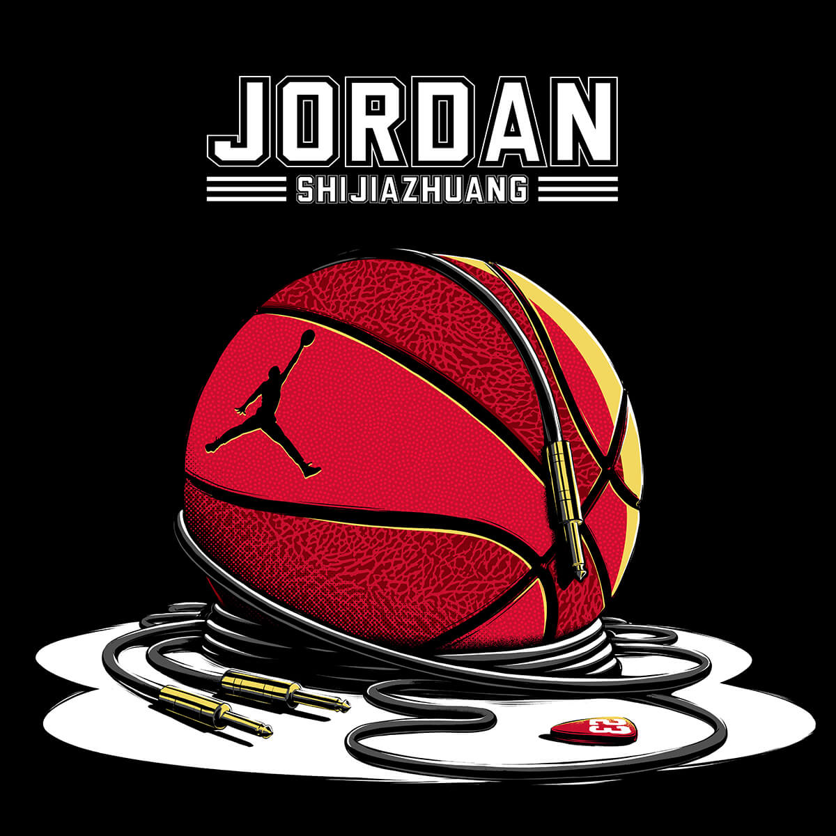 Jordan By You basketball illustration rock