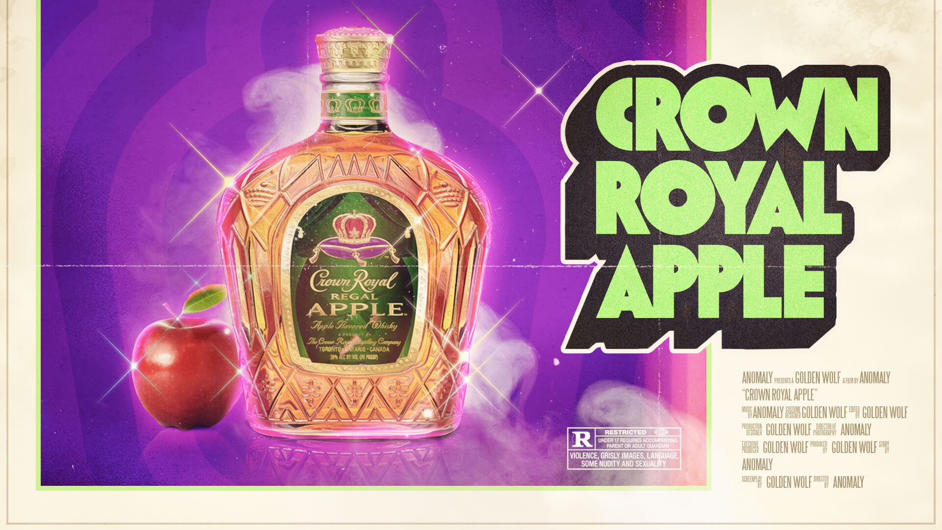 Crown Royal Scene Classic 70's Movie Poster