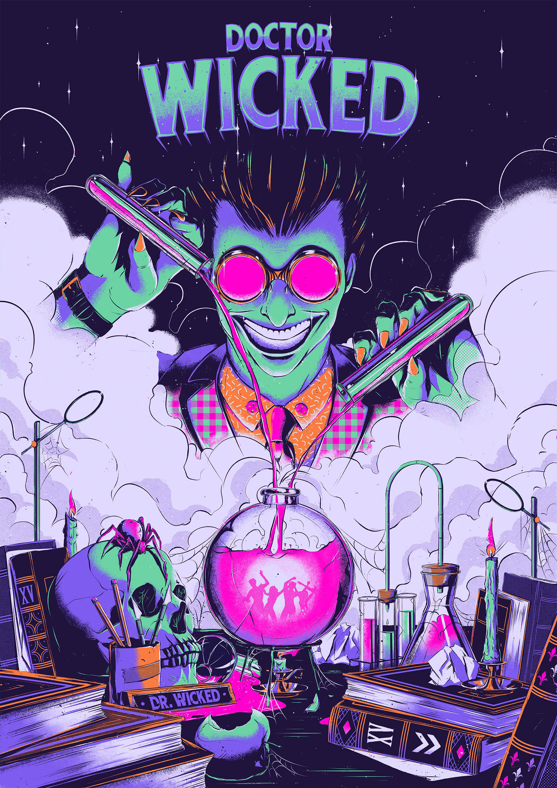 Doctor Wicked Key Art Illustrative Poster