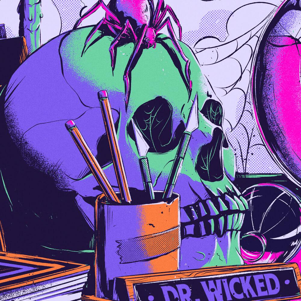Doctor Wicked Detail Skull
