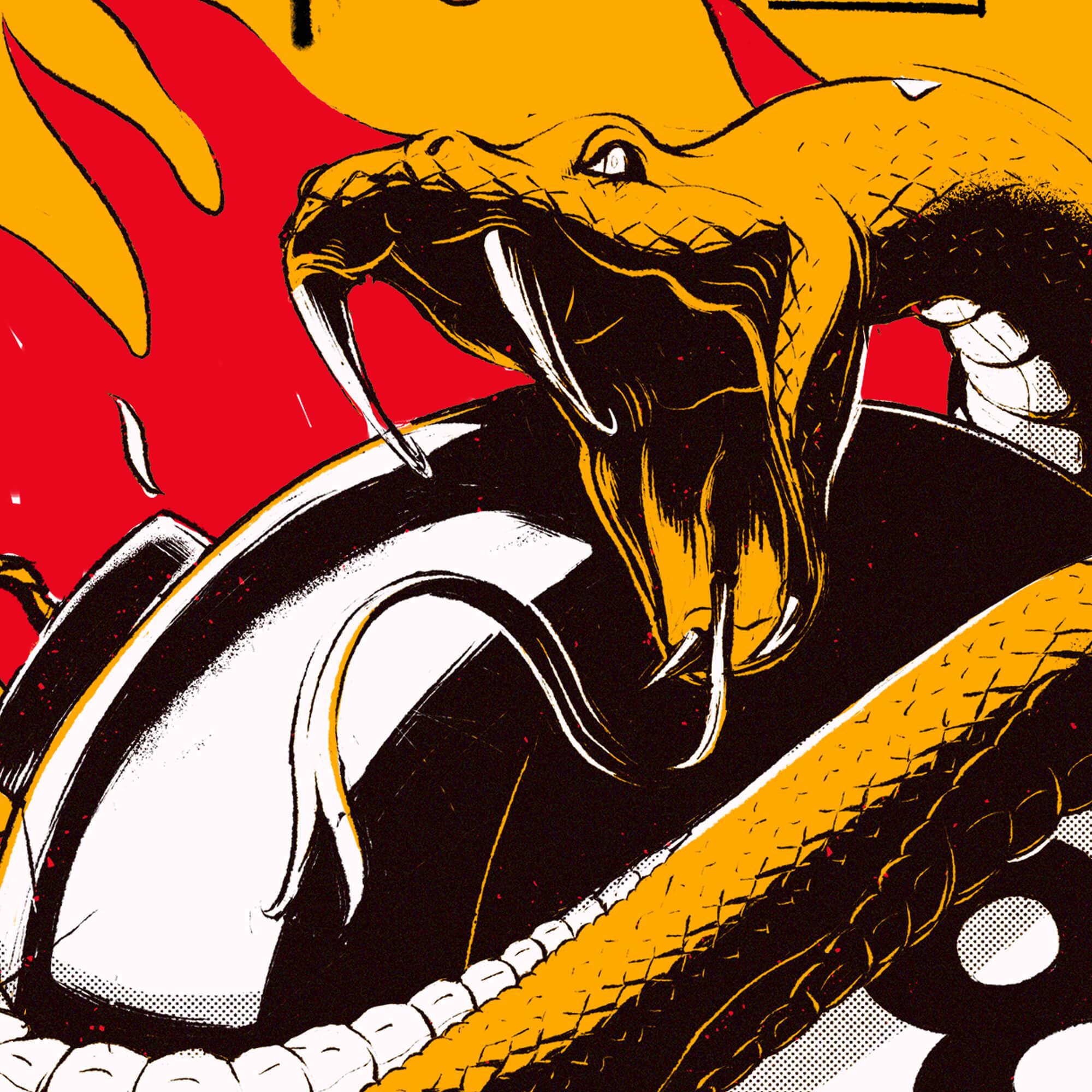 Detail Black Snakes Illustration 1