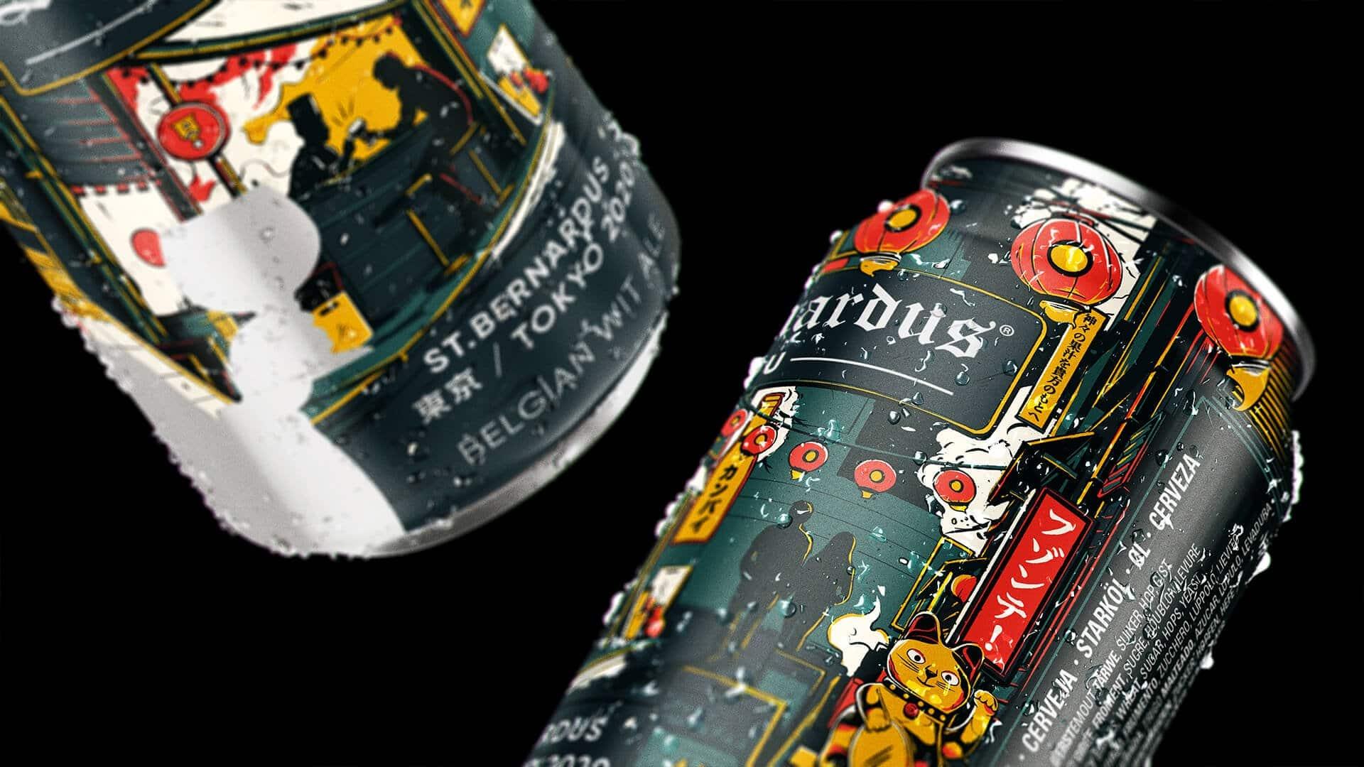Closeup St Bernardus Tokyo Beer can