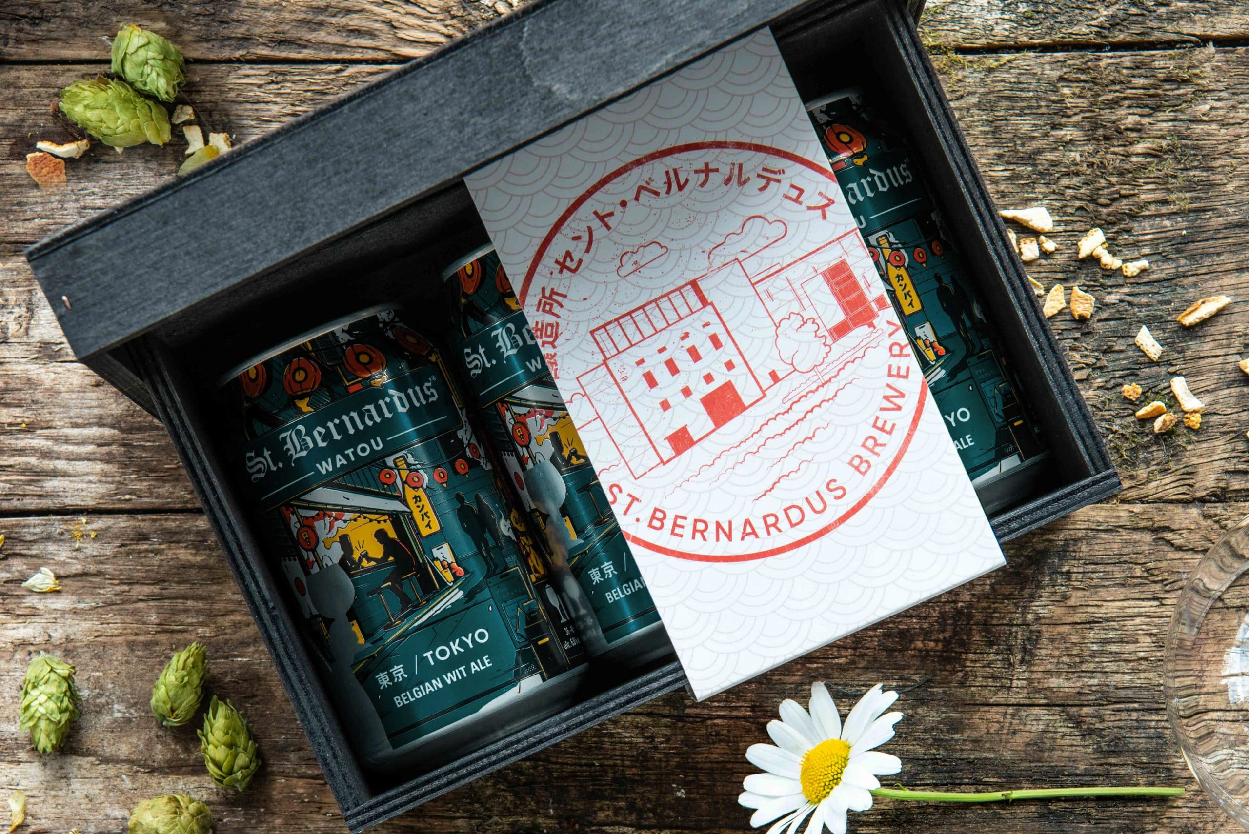 Photoshoot St Bernardus  japanese beer box